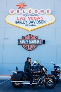 Las Vegas Motorrad Harley mieten USA