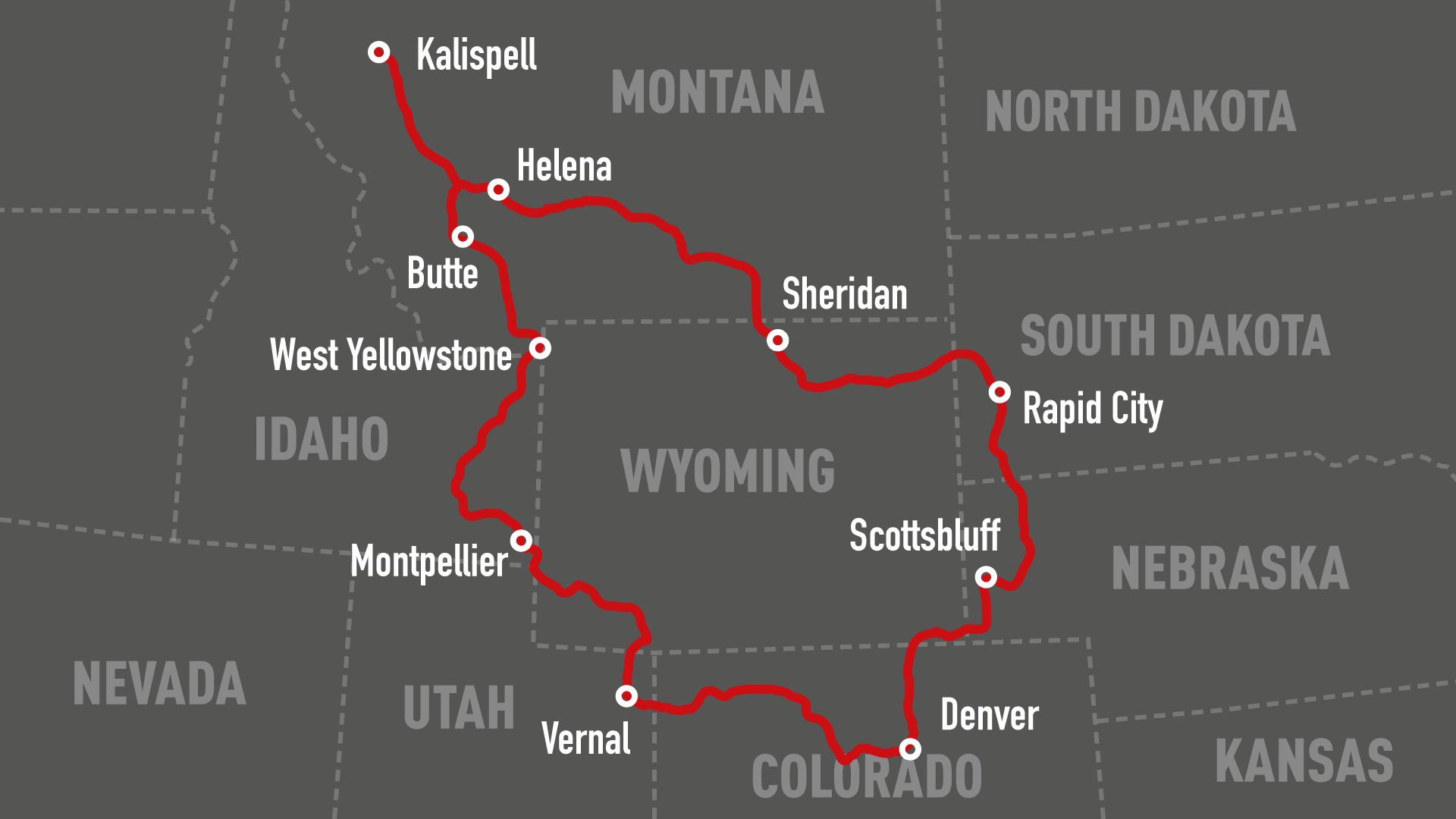 Rocky Mountains Motorradtour