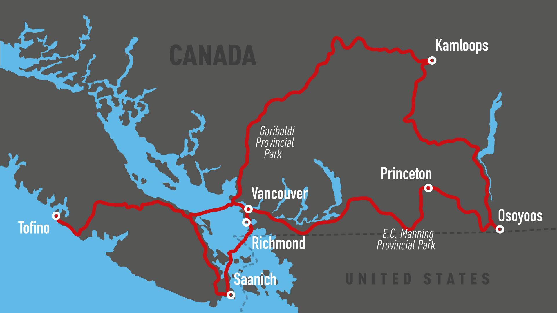 Vancouver Island Motorradtour