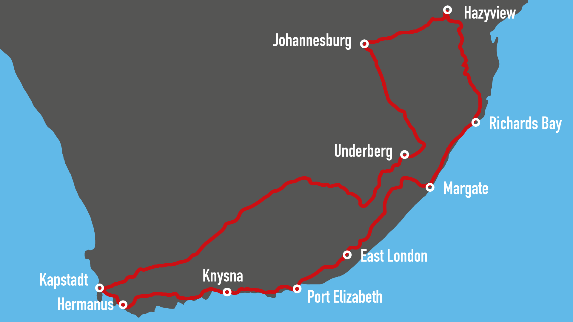 Harleytour in Südafrika