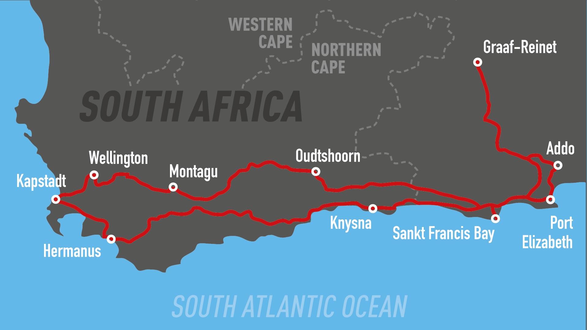 motorrad mieten südafrika harley Urlaub reise