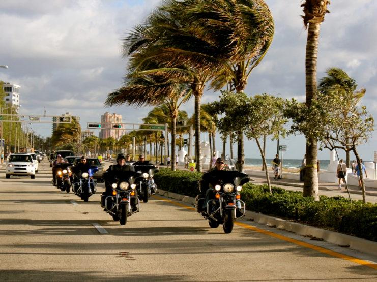 Harleytouren in Florida
