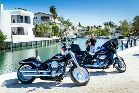 Harley Fat Boy in Miami mieten Florida USA