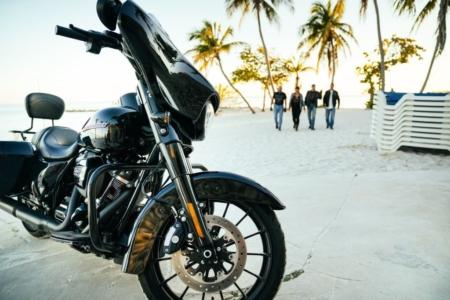 Harley am Srand Florida Motorrad Tour USA